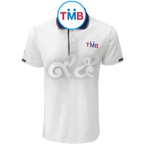 เสื้อโปโล สีขาว ธนาคารทหารไทย