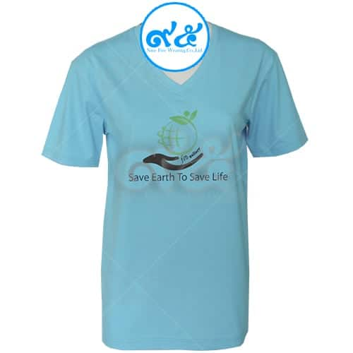 เสื้อคอวี Save Earth To Save Life