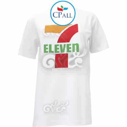 เสื้อคอกลม สีขาว 7-Eleven