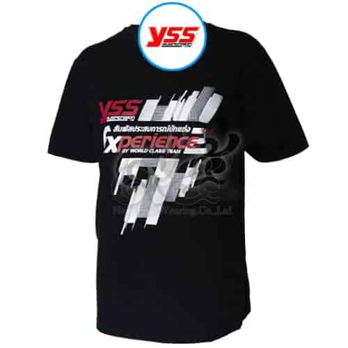 เสื้อคอกลม สีดำ สกรีน YSS