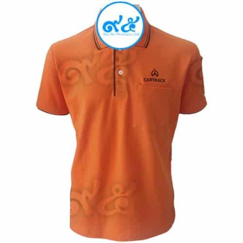 เสื้อโปโล สีส้ม CARTRACK