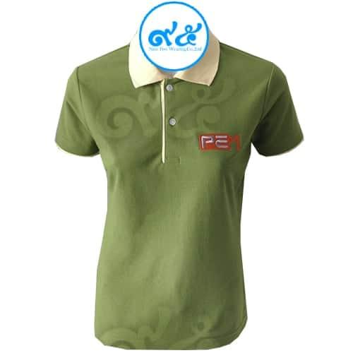 เสื้อโปโล สีเขียว PEM