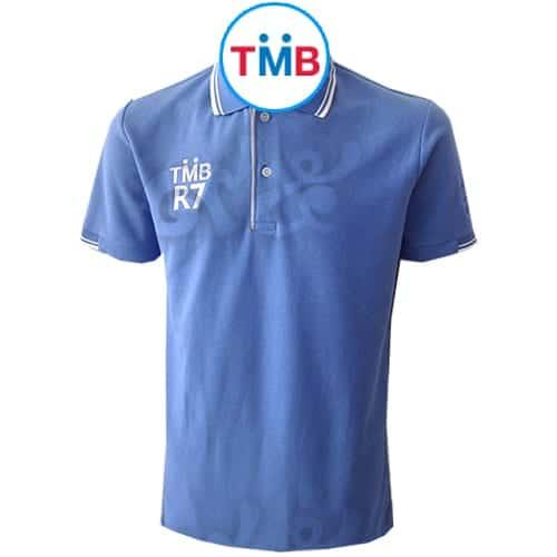เสื้อโปโล สีฟ้า TMB R7