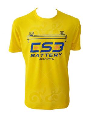 เสื้อยืดคอกลมสกรีน-cs3-battery-สีเหลือง