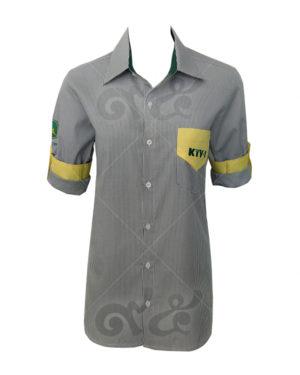 เสื้อเชิ้ตลายสก็อต-ตัดต่อ-กระเป๋าเสื้อ-แขนเสื้ต-ปัก-อกซ้าย-แขนขวา รหัสสินค้า shirt 12