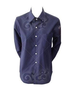 เสื้อเชิ้ต-แขนยาว-สีกลมท่า-ปักแขนซ้าย shirt 01