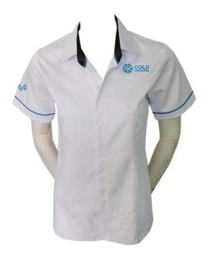 เสื้อเชิ้ต-แขนสั้น-สีขาว-ปักด้านซ้ายและแขนขวา shirt 07