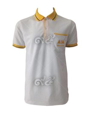 เสื้อโปโล-คอปกเหลือง-สีขาว-แขนจั้ม-polo-01