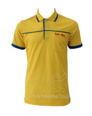 เสื้อโปโล-คอปก-สี-เหลือง-ขลิป-น้ำเงิน-ปลายแขนปล่อย-ปักอกซ้าย-polo-07