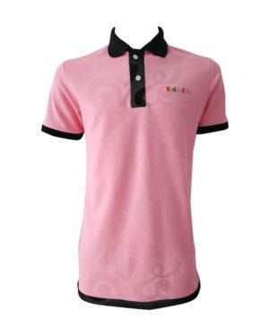 เสื้อโปโล-สีชมพู-คอปก-แขนจั้ม-สาบ-ชายเสื้อ-สีดำ-polo-32