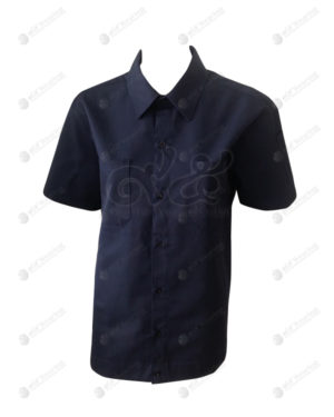 เสื้อช็อป 39 แขนสั้น สีกรมน้ำเงิน มีกระเป๋า ติดบั้งแขน