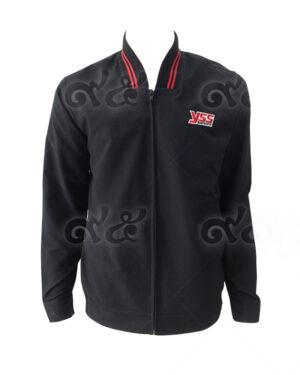 เสื้อแจ็คเก็ต แขนยาว ปกลิป ขลิปสีแดง แขนยาว แบบซิปรูด 01