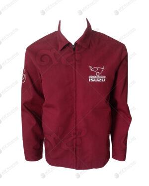 เสื้อแจ็คเก็ต แขนยาว สีแดง แบบชุดสูท รูดซิบ ผ้าคอมทวิว 07