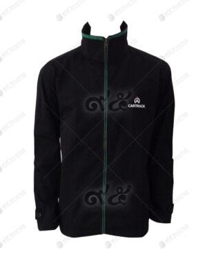 เสื้อแจ็คเก็ต ไมโครไฟเบอร์พีช แขนยาว สีดำ สไตล์กีฬา คอตั้ง 05