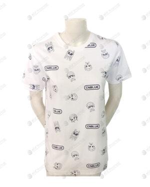 เสื้อยืดคอกลม สีขาว สกรีน no.27