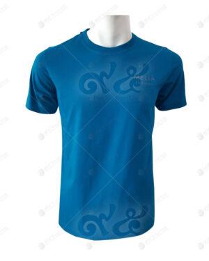 เสื้อยืดคอกลม สีฟ้าทะเล สกรีน no.21