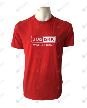 เสื้อยืดคอกลม สีแดง สกรีน no.86