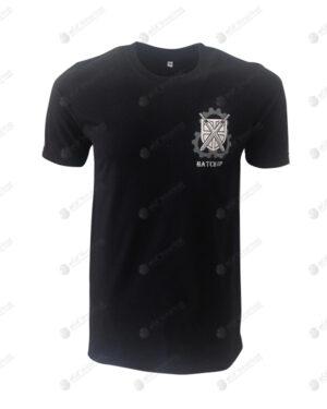 เสื้อยืด คอกลม สีดำ สกรีน no.50